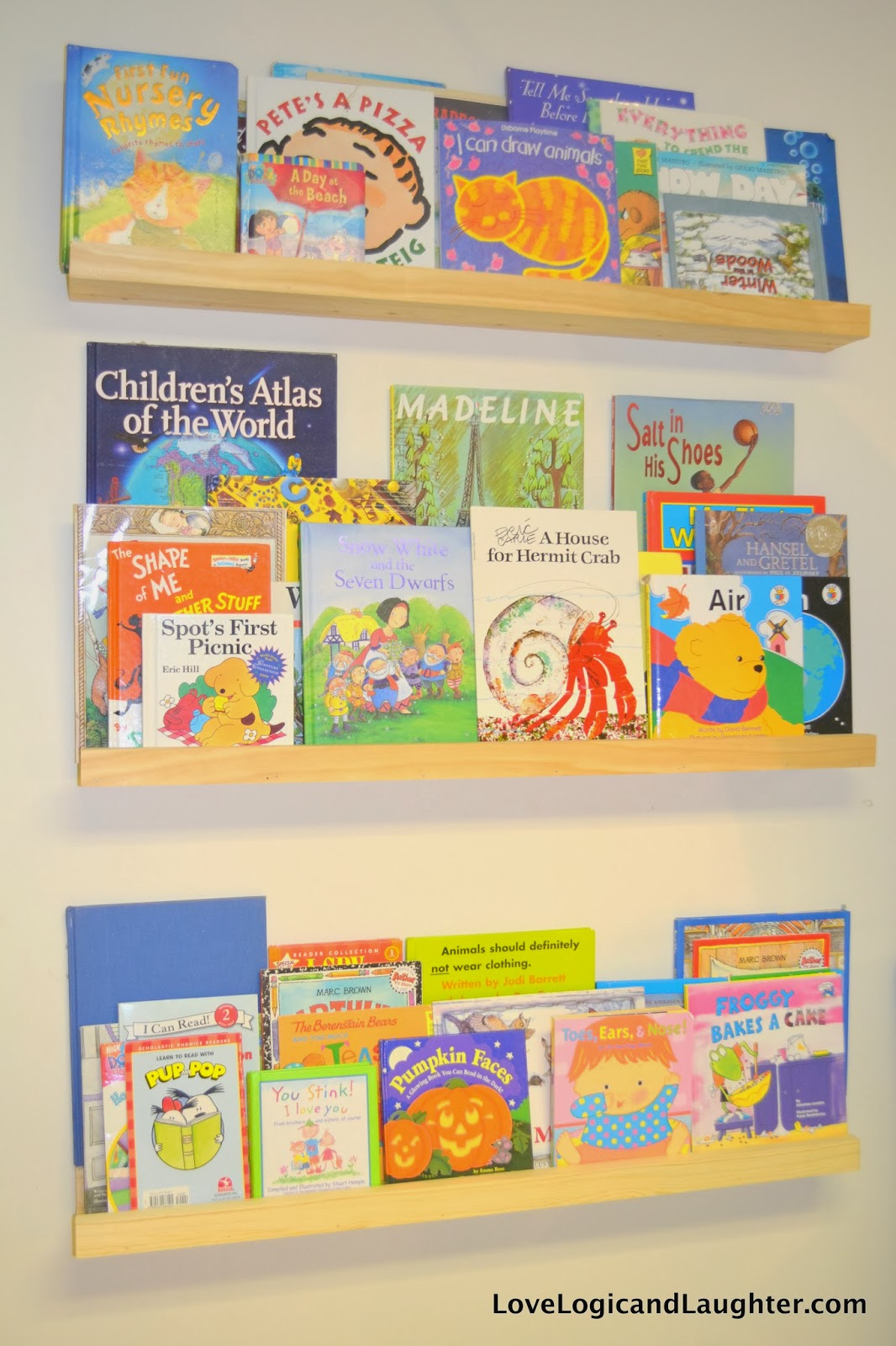 Reading Nook, Swing And Art Wall In The Playroom » Logic and Laughter